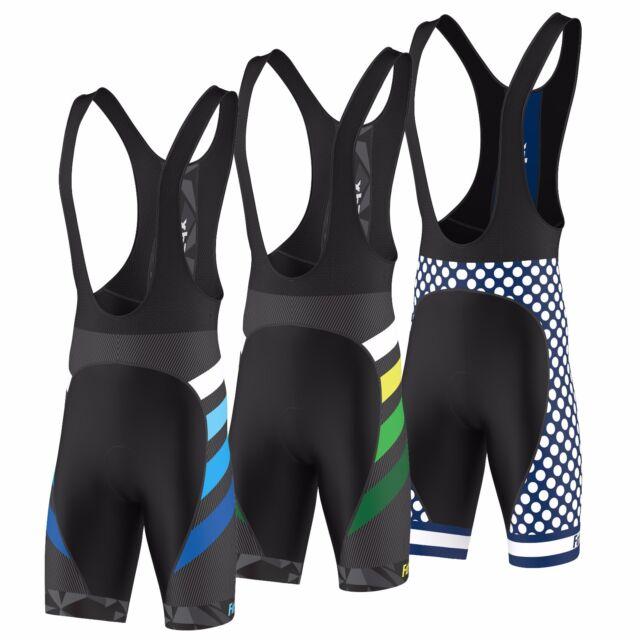 FDX Mens Optimum Cycling Bib Shorts Gel Padded Bib Jersey Cycling Tight Shorts