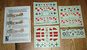 1-72-scale-DECALS-ALBATROS-D-III-OEF-IN-AUSTRIAN-amp-FOREIGN-USE-BLUE-RIDER