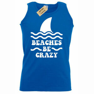 da37210f3b Beaches Be Crazy Funny Mens Beach Vacation Summer holiday Tank Top ...