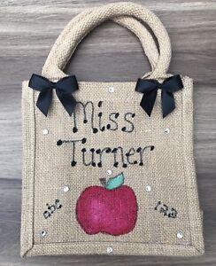 Personalised-Glitter-Apple-Jute-Bag-School-Teacher-Gift