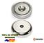 5x-A32-Heavy-Duty-32mm-25kg-Neodymium-Rare-Earth-Countersunk-Shallow-Pot-Magnets thumbnail 1