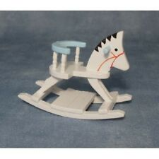 Streets Ahead 1/12 Scale Dolls House Accessory White & Blue Horse Rocker DF1521