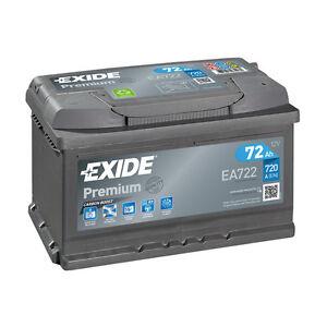 1x exide premium 72ah 720cca 12v type 096 car battery 4 year warranty ea722 ebay. Black Bedroom Furniture Sets. Home Design Ideas