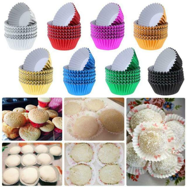 100pcs Cupcake Liner Paper Cake Cupcake Muffin Baking Cup for Cake Baking 8 Colors Blue dot