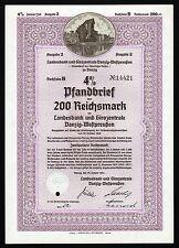 1941 Gdansk, Polen: Landesbank und Girozentrale Danzig-Westpreussen - 200 RM