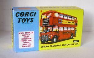 Repro-Box-Corgi-Nr-468-Lodon-Transport-Routemaster-Bus