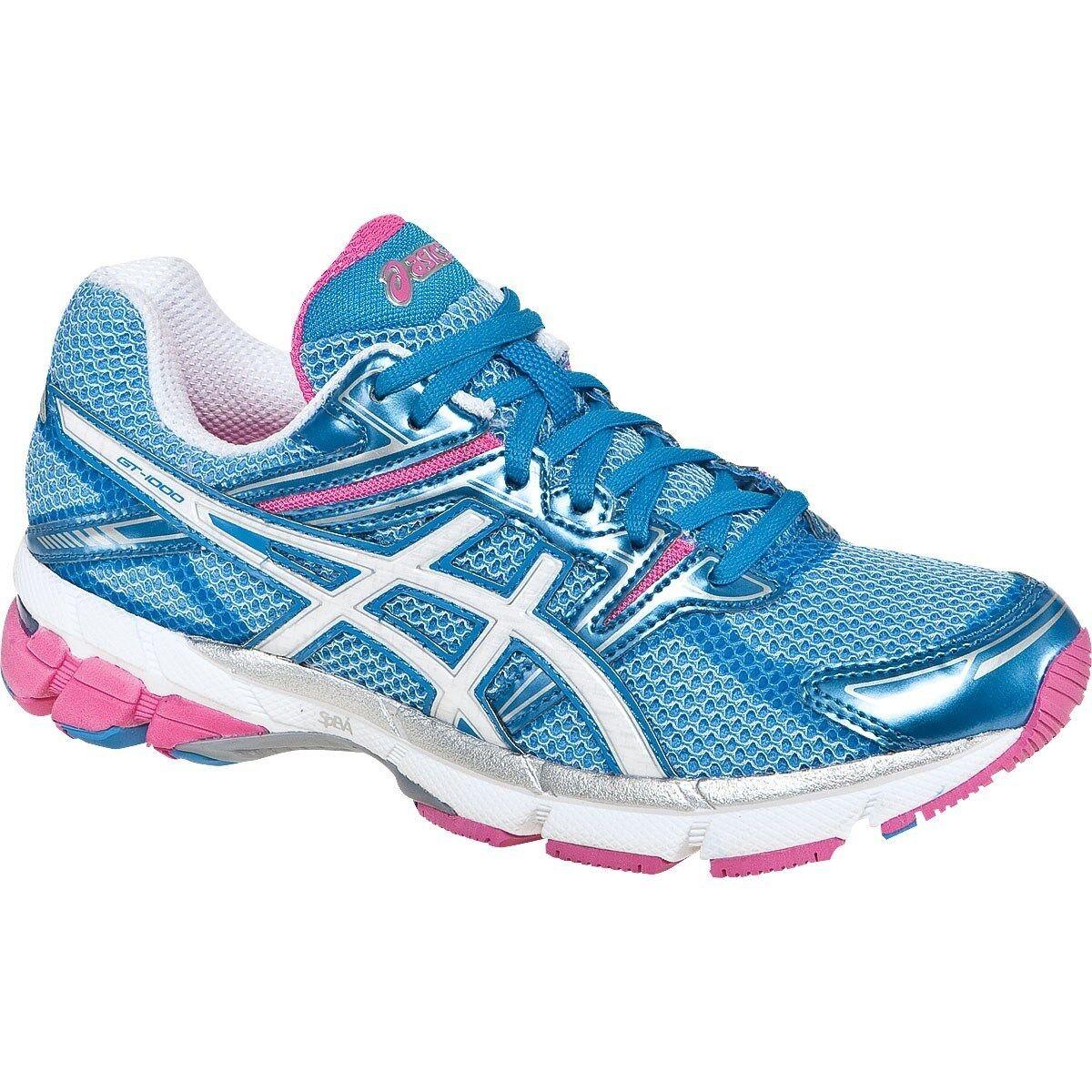 Womens Asics GT 1000 running shoes Island bluee White Pink NIB T2L6N MSRP