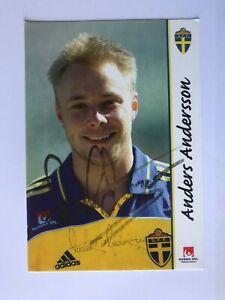 Autogramm ANDERS ANDERSSON-Nationalteam SCHWEDEN EM 2000-Ex-Benfica/Malmö-AK