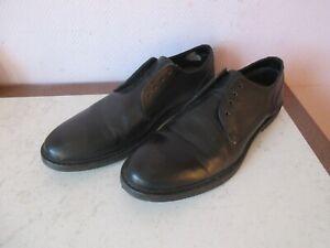 chaussures de ville jules noires homme sans lacets taille 41.