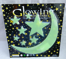 Glow in the Dark Stickers - Night Sky - Large Moon & Stars Pack