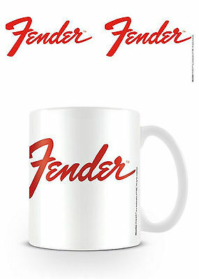Official Fender Logo Mug Ceramic Guitar Rock Mug Novelty Gift
