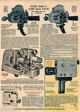 1968 ADVERT Pathe 16MM Super 8MM Movie Cameras Nizo Graflex Projector