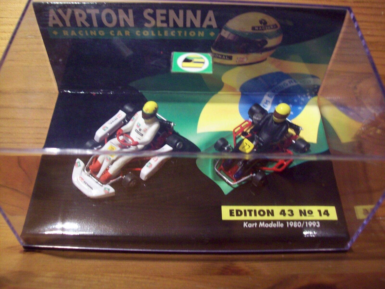1 43 AYRTON SENNA  Nº 14 Go Kart Twin Set 1980 1993  meilleur choix