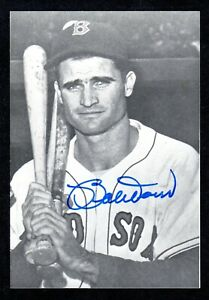 Bobby Doerr RED SOX HOF SIGNED 3-1/2 x 5  AUTOGRAPH  PHOTO CARD AUTO COA #1