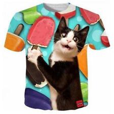 Womens//Mens Funny Cat Set Cute Animals 3D Print Casual T-Shirt Tee Short Sleeve