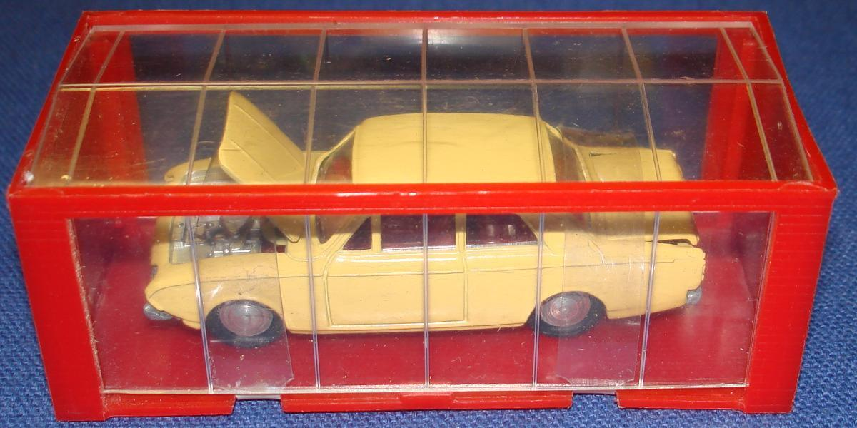 Vintage - 60er mini dinky druckguss fahrzeug mit rot - gelben ford corsair - garage