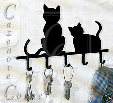 Key Holder. Cat shaped key hanger. Cats Key hooks, key organiser. Cat Silhouette