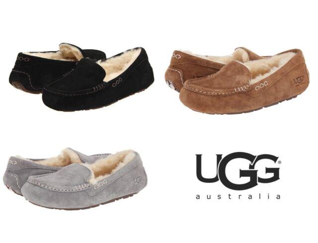 ff60d3cd64d NWT UGG Australia Womens Ansley Fur Slipper Slip On Winter Brown Grey Black  3312