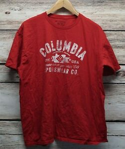 Columbia T Shirt Black Sportswear Always Outside Graphic T Shirt Size Large