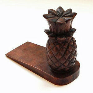 Image Is Loading DOOR STOPPER WOODEN PINEAPPLE DOOR STOP STAIN FINISH