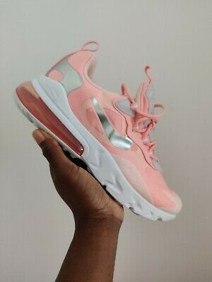 Nike Air Max 270 Reacts Pink Bleached Coral White Silver UK 5 US 5.5 EUR 38 | eBay