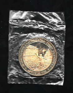 New-Washington-Inaugurated-First-President-April-30-1789-Solid-Bronze-Coin