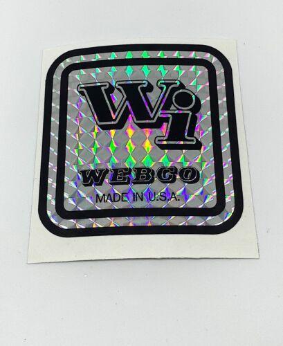 WEBCO FRAME DECAL SET For Restoration choose from 2 standard colors