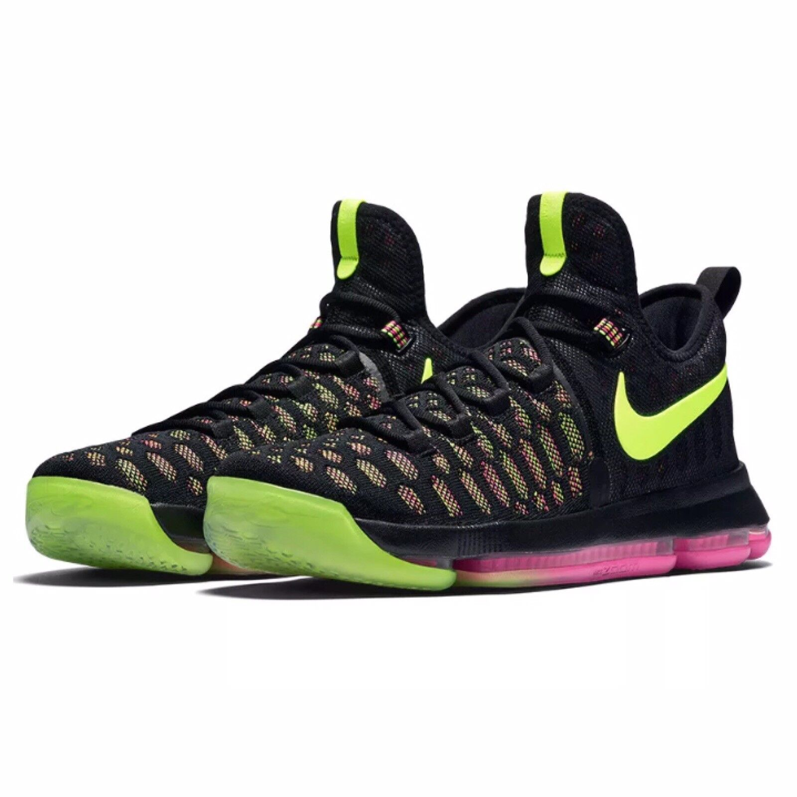 Nike Zoom KD9 Kevin Durant Shoes Size 10 Black & Multicolor 843392 999 BRAND NEW