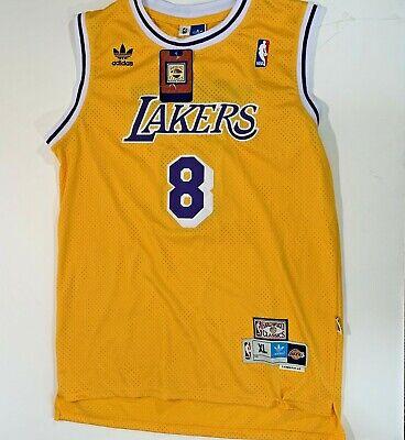NWT stitched ADIDAS Hardwood Classics Kobe Bryant #8 Jersey LA ...