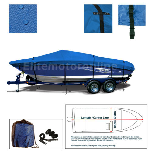 22/'-24/' Deluxe Trailerable V-Hull Runabouts Bowrider Boat Cover