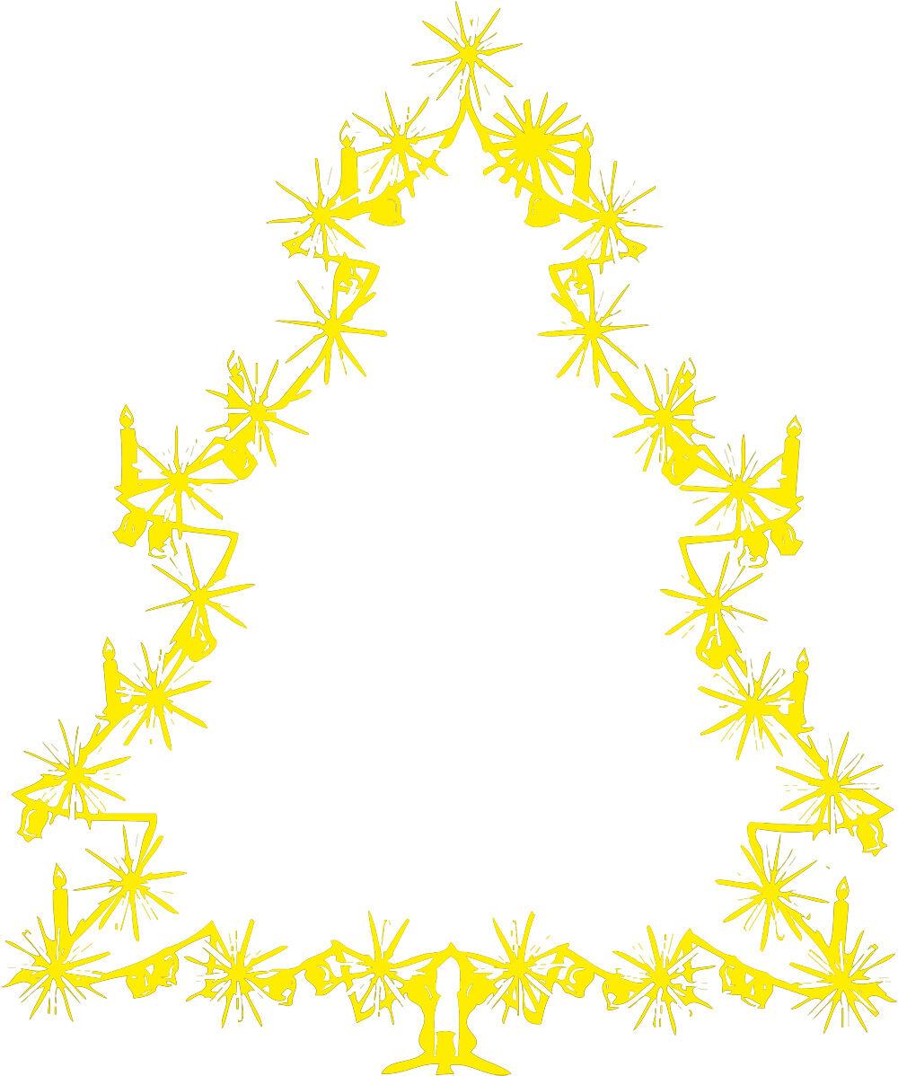 (WD0810 gelb) Applikation Aufkleber Dekor    • Weihnachtsbaum • versch. Größen e19f2d