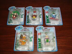 Webkinz-Ornaments-Wreath-Monkey-Parade-Drum-Panda-Frog-Zangoz-Pig-Christmas-NEW