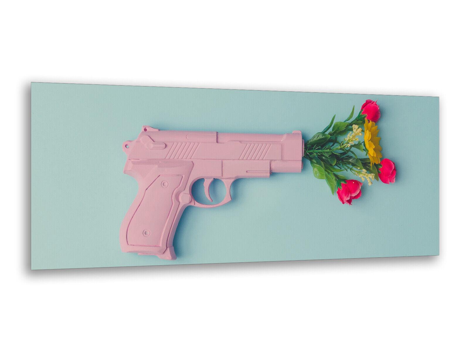 Glasbilder Wandbilder 125 x 50cm Pistolen Strauß AG312502851