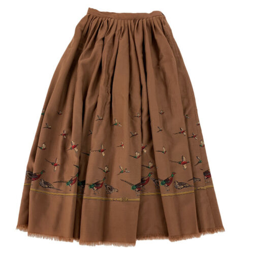 "Ralph Lauren Pleated Skirt Women's 26"" Brown Pheas"