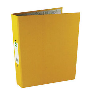 Q-CONNECT-A4-RING-BINDER-10-PACK-YELLOW-2-RINGS-PAPER-OVER-BOARD-KF01473