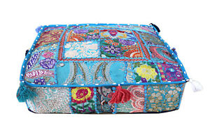 New-18-034-Square-Turquoise-Multi-Patchwork-Cushion-Cover-Decorative-Pillow-Covers