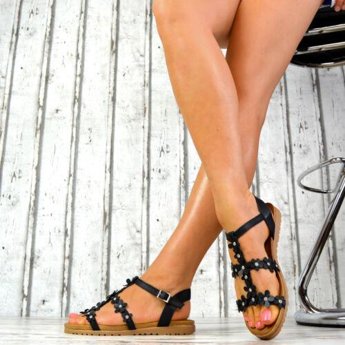 NEU Designer Damenschuhe Sommer Damensandalen Riemchen Peep-Toes Schwarz