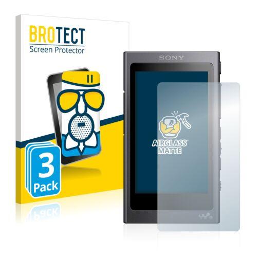 3x Schutz Glasfolie Sony Walkman A40 Matt Sicherheitsglas Entspiegelt