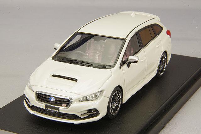 1 43 Mark43 Subaru Levog 2.0 STI sports EyeSight Crystal White Pearl PM4371SW
