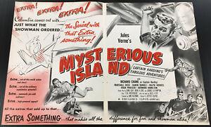 MYSTERIOUS ISLAND__Original 1951 Trade AD / poster__Columbia Serial__Jules Verne