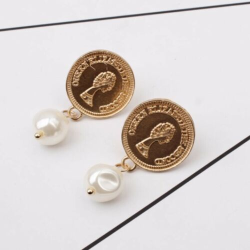 New Women Earrings Irregular Pearl Circle Geometric Drop Dangle Earring Jewelry