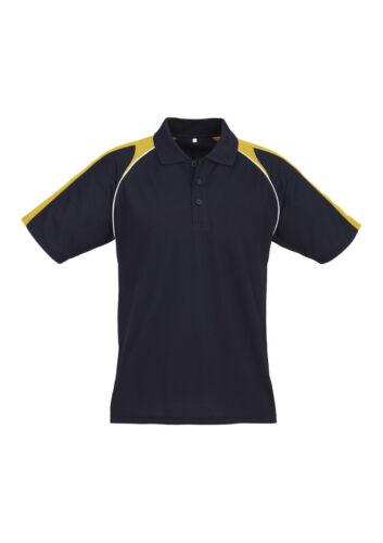 Biz Collection Mens Triton Cotton Back Polo Raglan Sleeve W// Piping Trim Cuffs