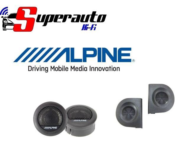 Alpine Par Tweeter SXE-1006TW para Fiat Panda De 2003 Al 2012 2 Serie