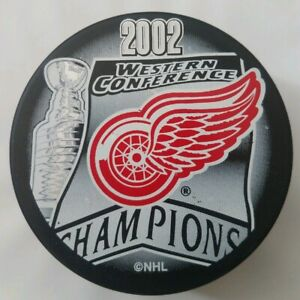 2002-DETROIT-RED-WINGS-WESTERN-CONFERENCE-STANLEY-CUP-CHAMPIONS-NHL-HOCKEY-PUCK