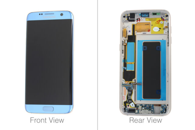Genuine Samsung Galaxy S7 Edge G935 Coral Blue LCD Screen & Digitizer Complete -