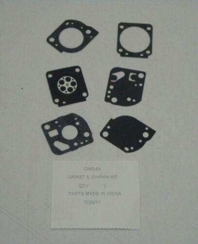 GND-64 Zama C1U-W19 Carburetor Diaphragm /& Gasket Kit