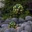 LED-Buchsbaum-Kugel-mit-LEDs-Buchskugel-Kunstbaum-Buxbaum-Kugel-Kunstpflanze miniatuur 1