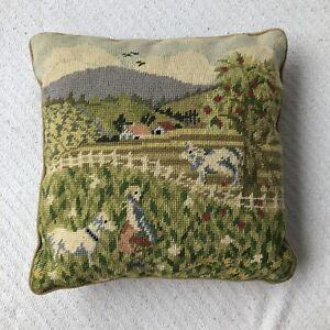 Steinwinder-Enterprises-Needlepoint-Petite-Point-Pastoral-Pastel-Pillow-Velvet