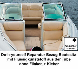 boot yacht sitz bank bezug kunstleder reparatur set riss schnitt loch ebay. Black Bedroom Furniture Sets. Home Design Ideas