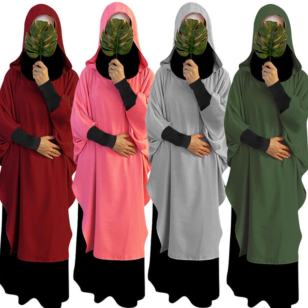 Muslim Women Long Khimar Niqab Hijab Abaya Jilbab Overhead Scarf Islamic Prayer